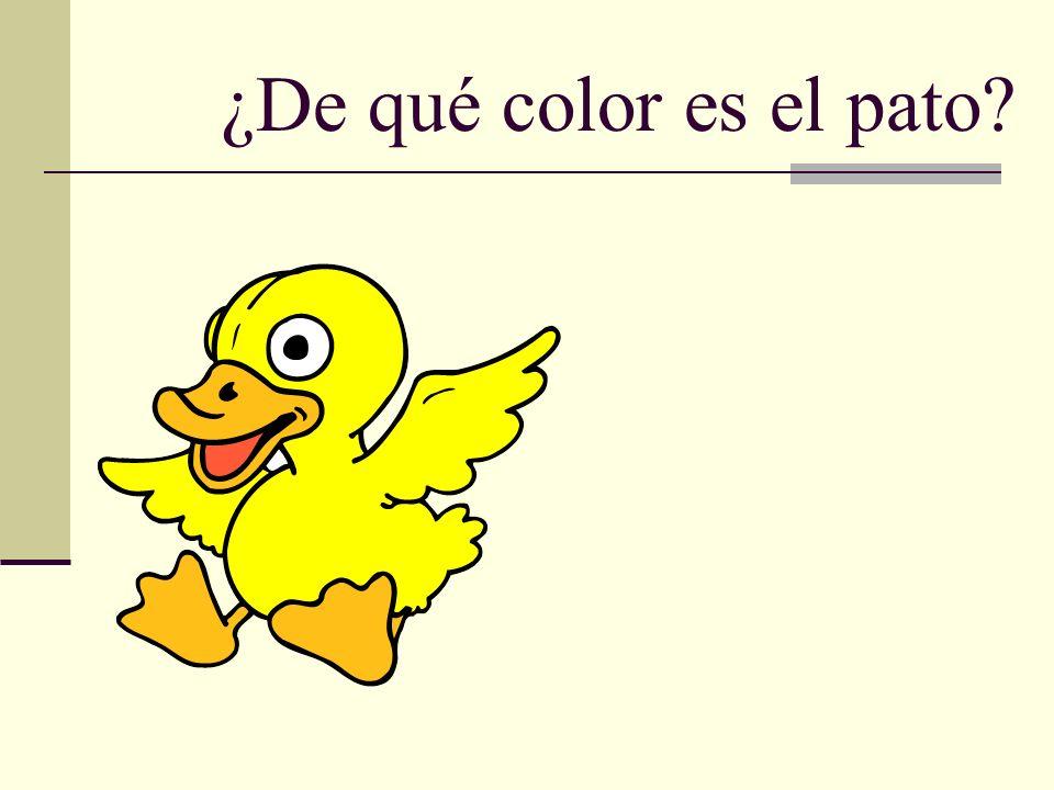 ¿De qué color es el pato