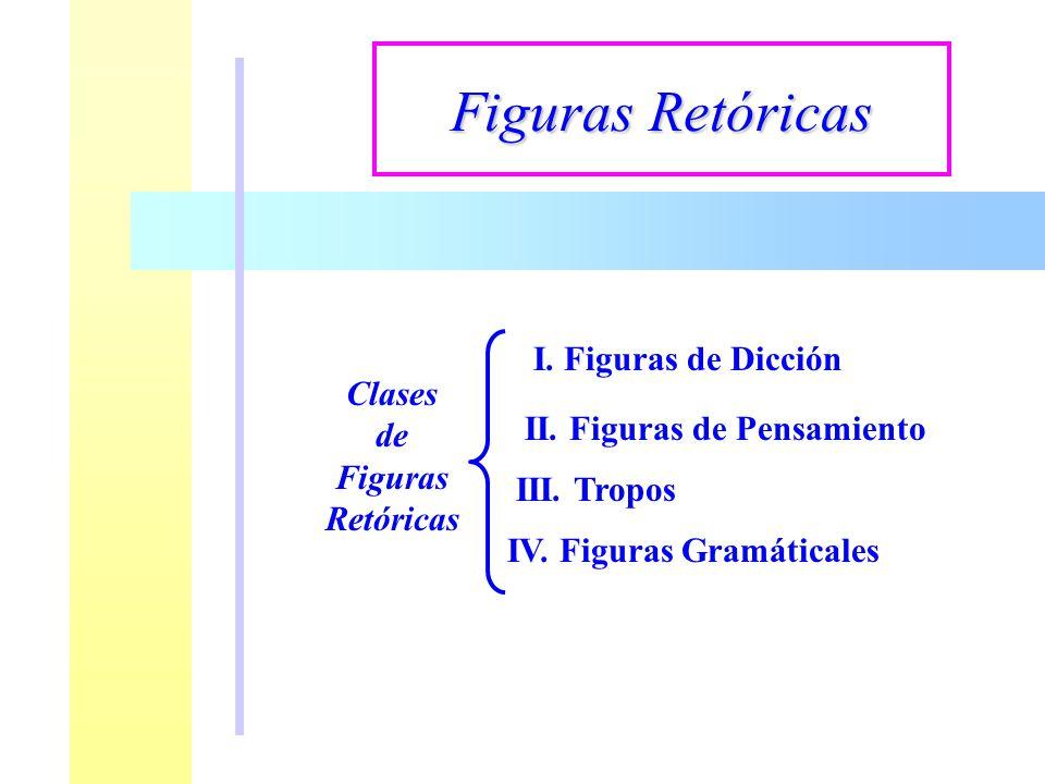 Clases de Figuras Retóricas