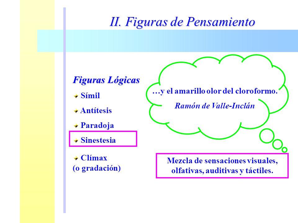 II. Figuras de Pensamiento