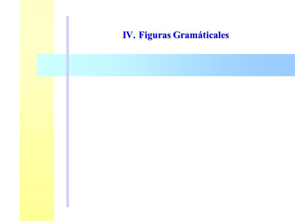 IV. Figuras Gramáticales