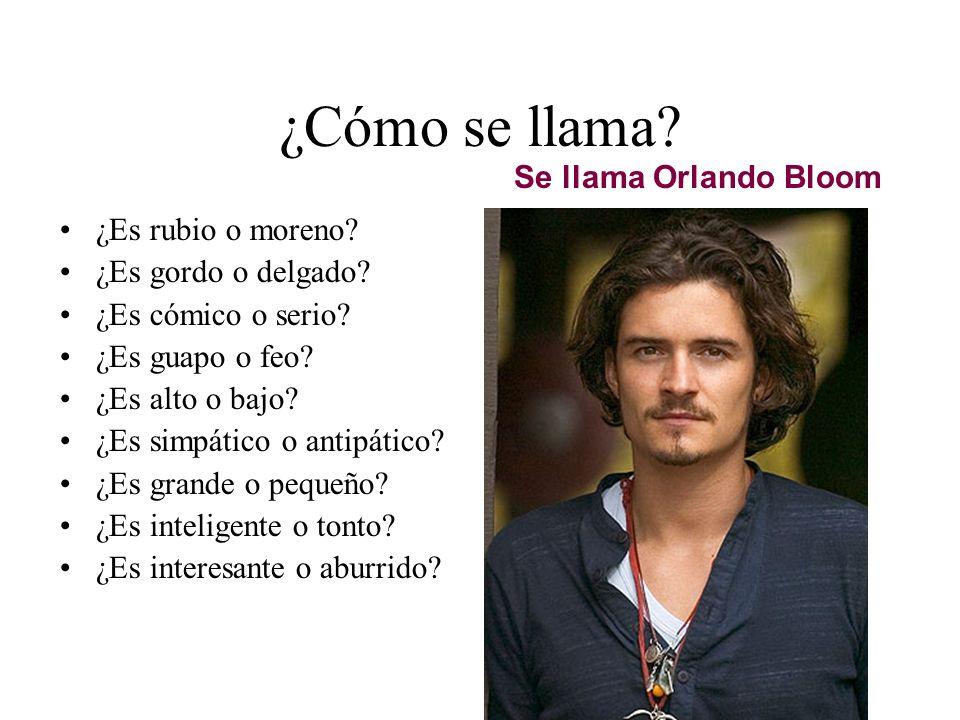 ¿Cómo se llama Se llama Orlando Bloom ¿Es rubio o moreno