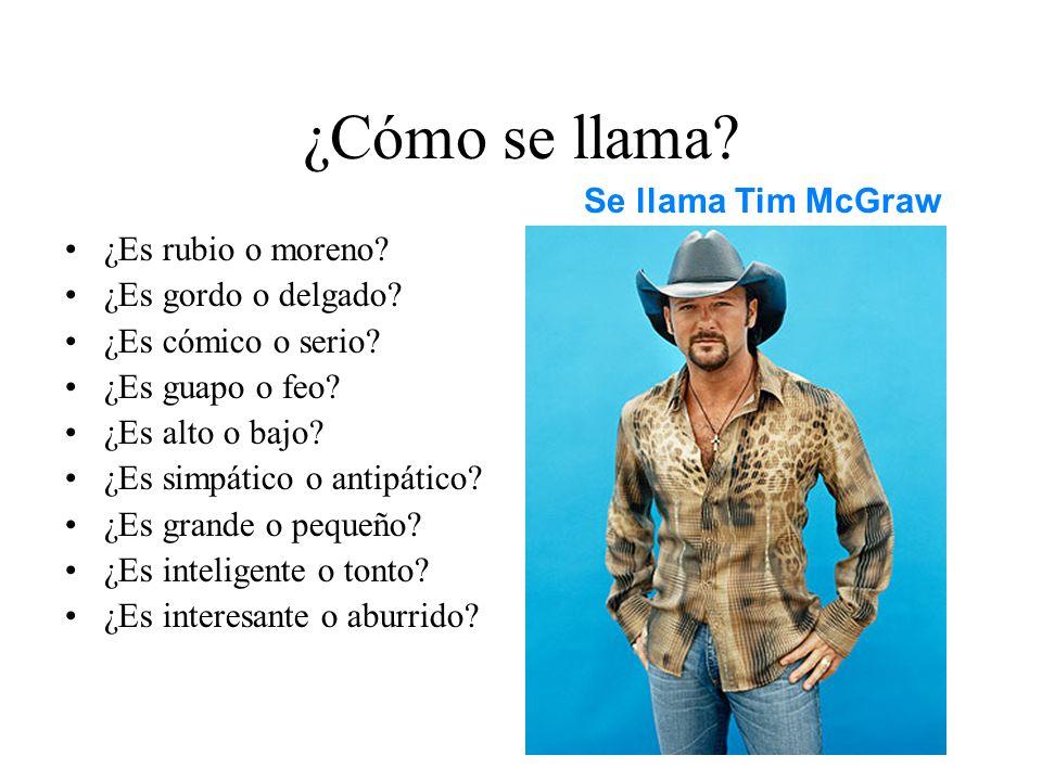 ¿Cómo se llama Se llama Tim McGraw ¿Es rubio o moreno
