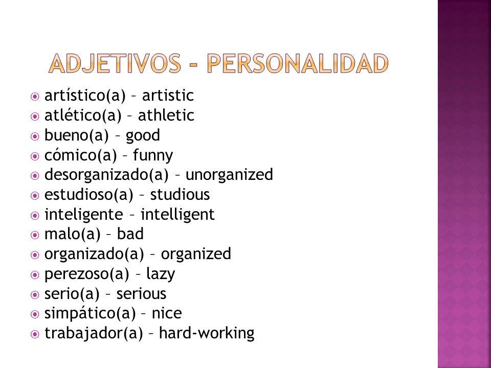 Adjetivos - Personalidad