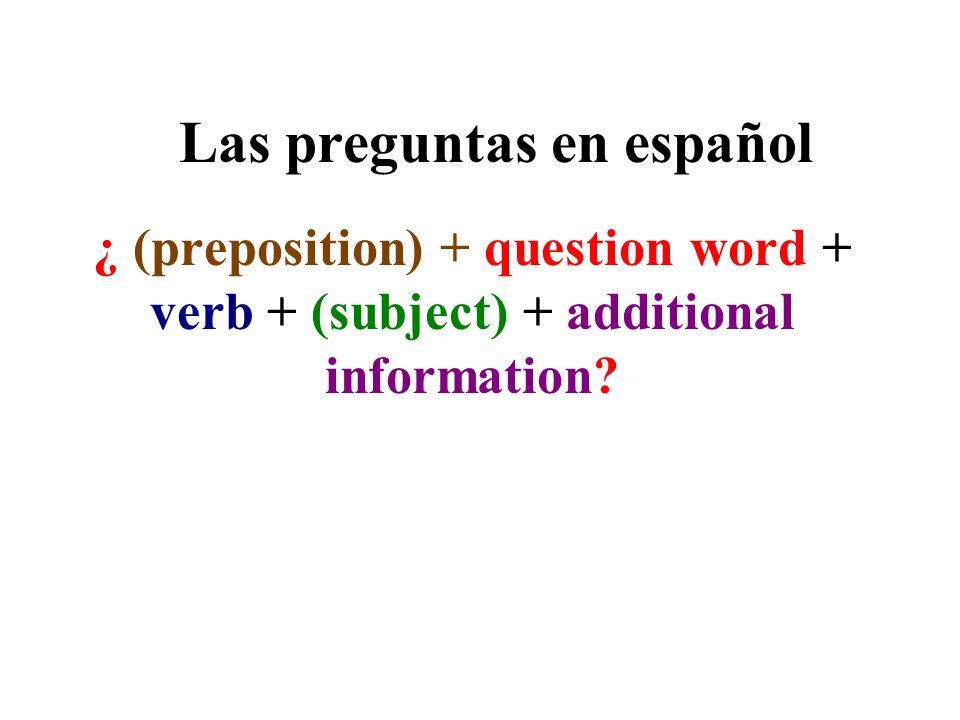 Las preguntas en español