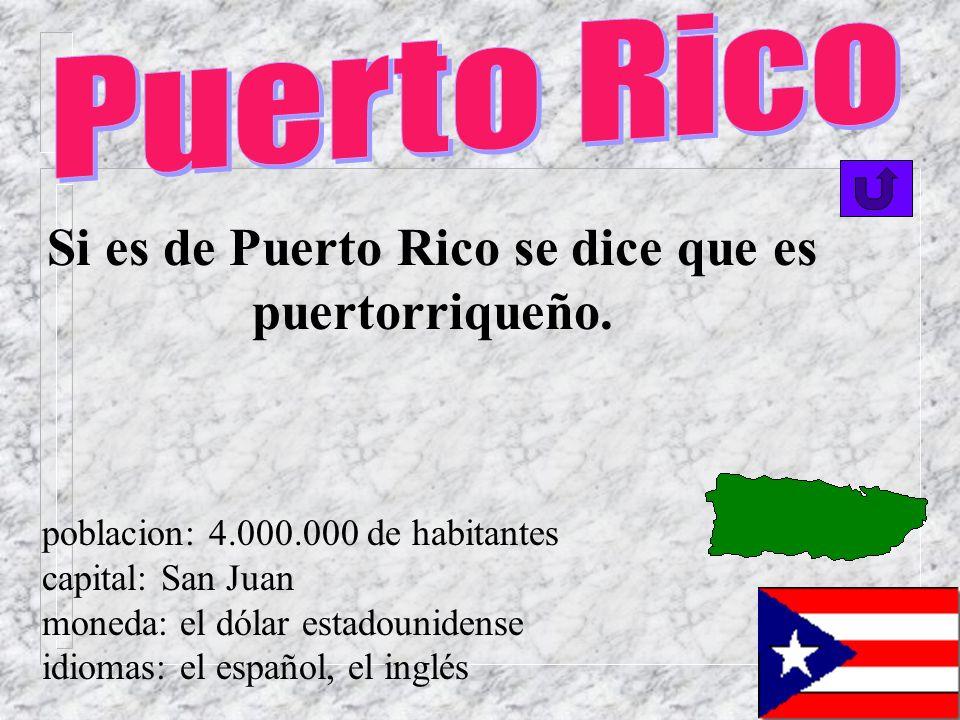 Si es de Puerto Rico se dice que es puertorriqueño.