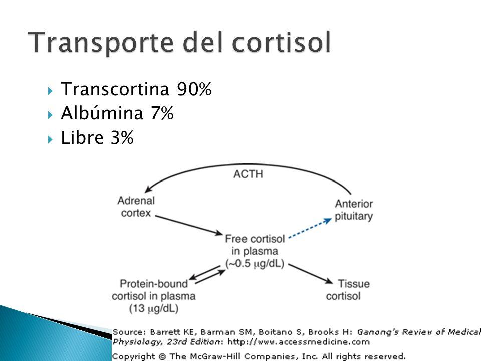 Transporte del cortisol