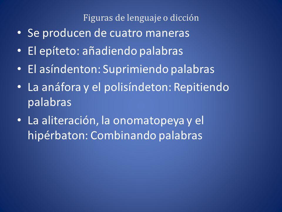 Figuras de lenguaje o dicción