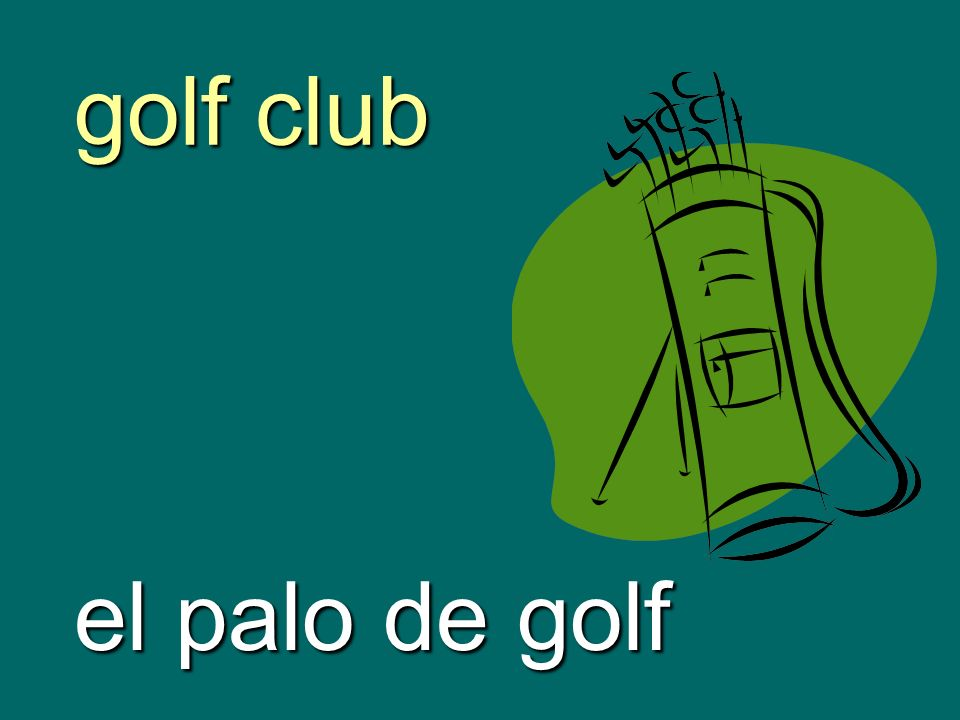 golf club el palo de golf