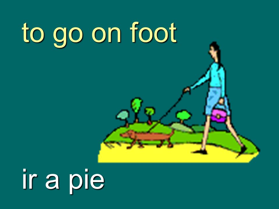 to go on foot ir a pie