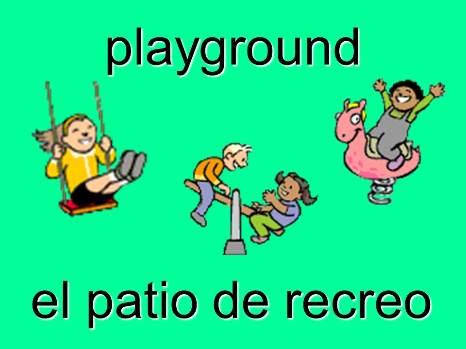 playground el patio de recreo
