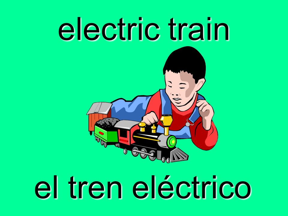 electric train el tren eléctrico