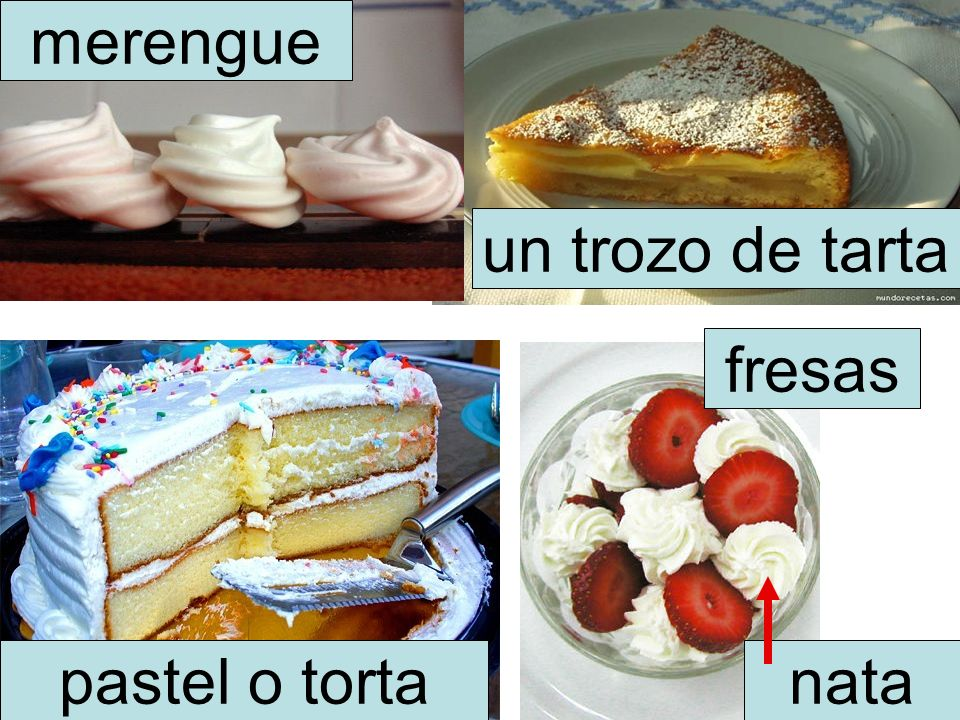 merengue un trozo de tarta fresas pastel o torta nata