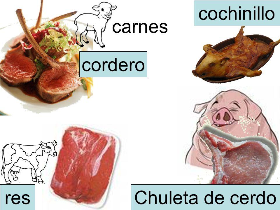 cochinillo carnes cordero res Chuleta de cerdo