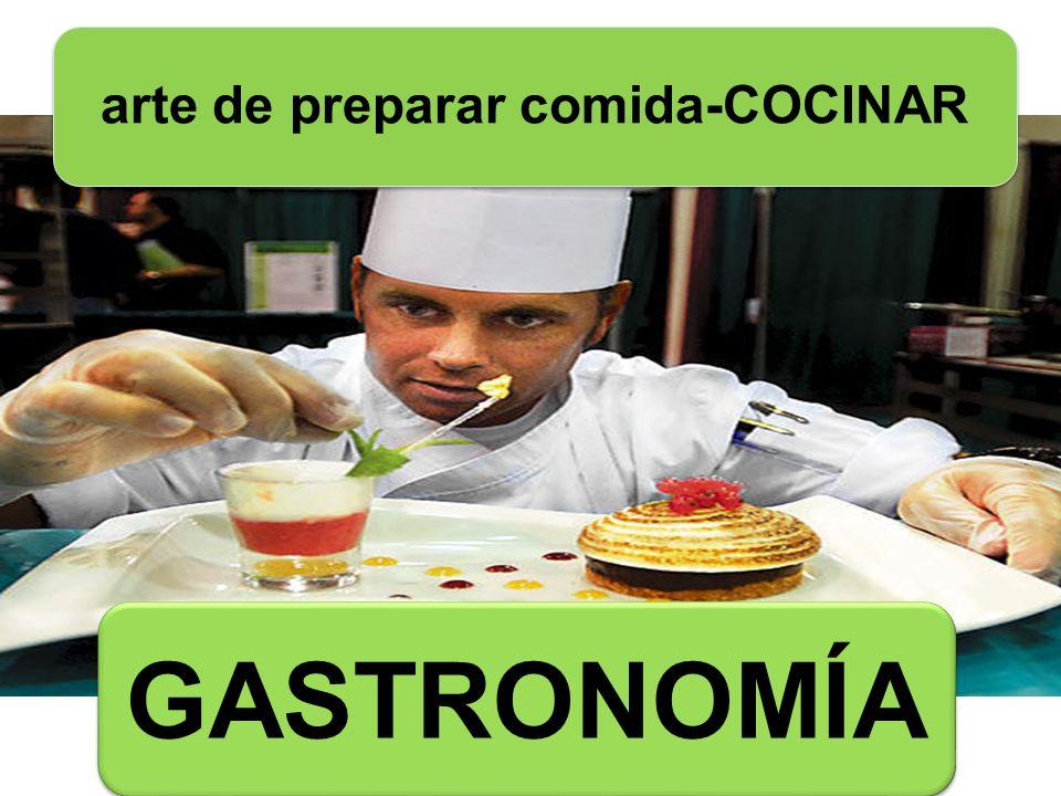 arte de preparar comida-COCINAR