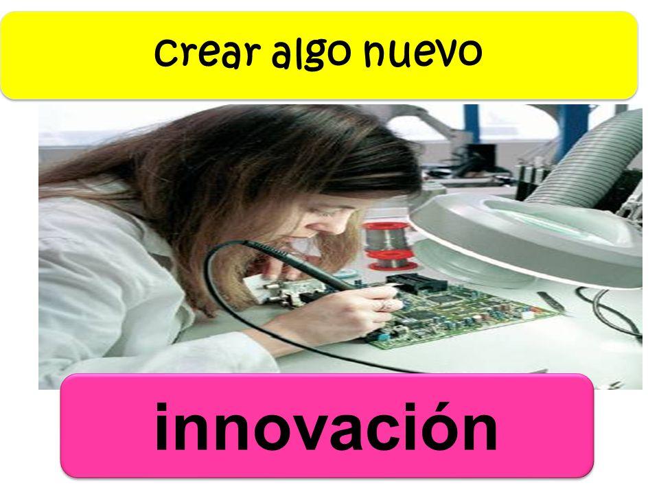 crear algo nuevo innovación
