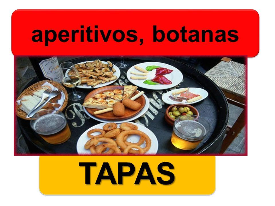 aperitivos, botanas TAPAS