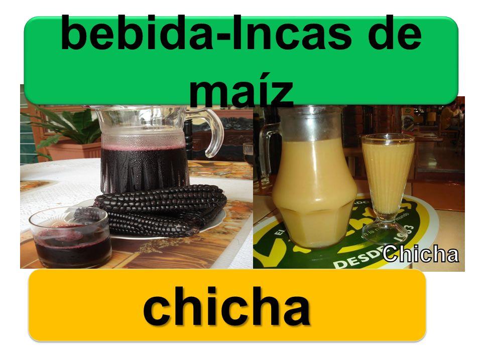 bebida-Incas de maíz chicha