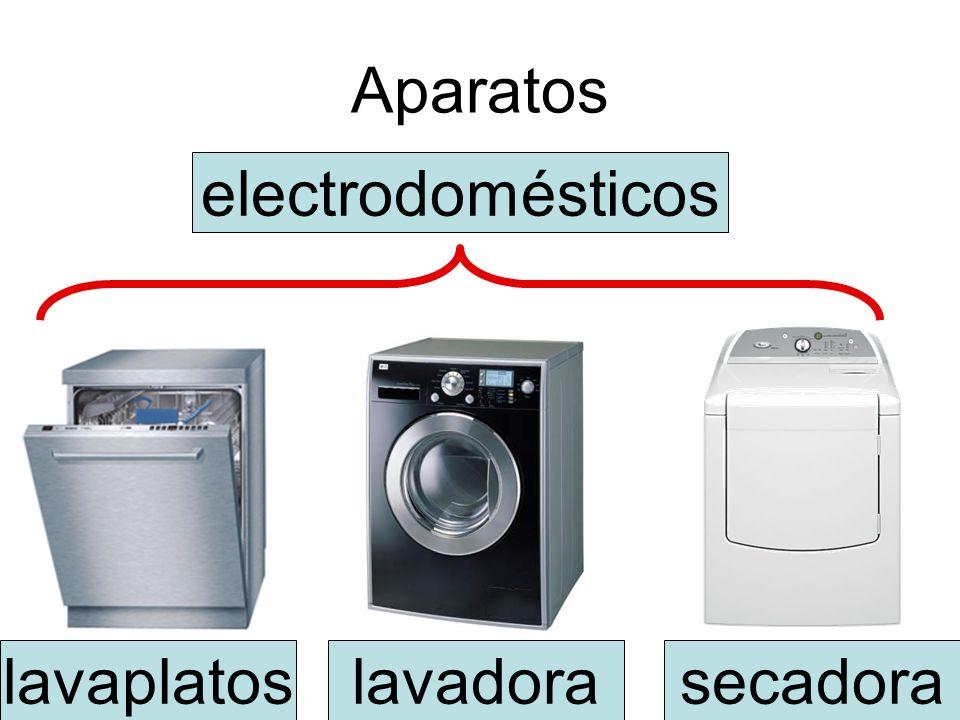 Aparatos electrodomésticos lavaplatos lavadora secadora