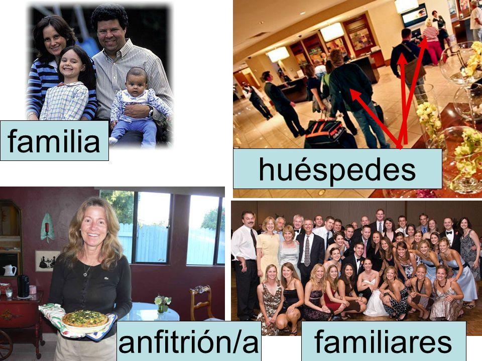 familia huéspedes anfitrión/a familiares