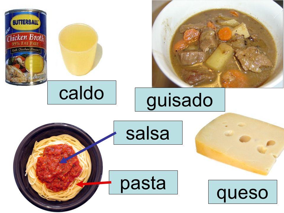 caldo guisado salsa pasta queso