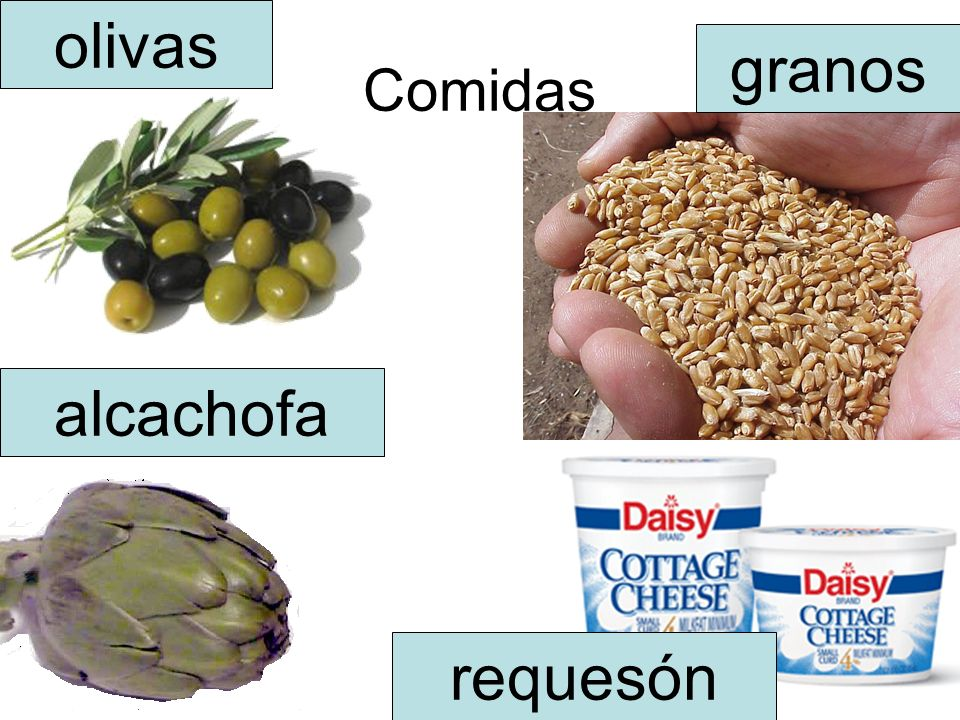 olivas Comidas granos alcachofa requesón