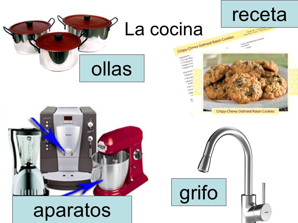 receta La cocina ollas grifo aparatos