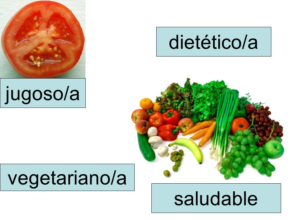 dietético/a jugoso/a vegetariano/a saludable