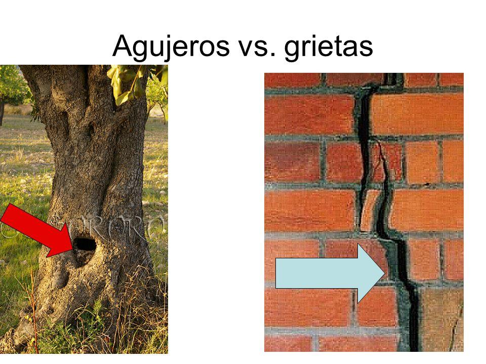 Agujeros vs. grietas