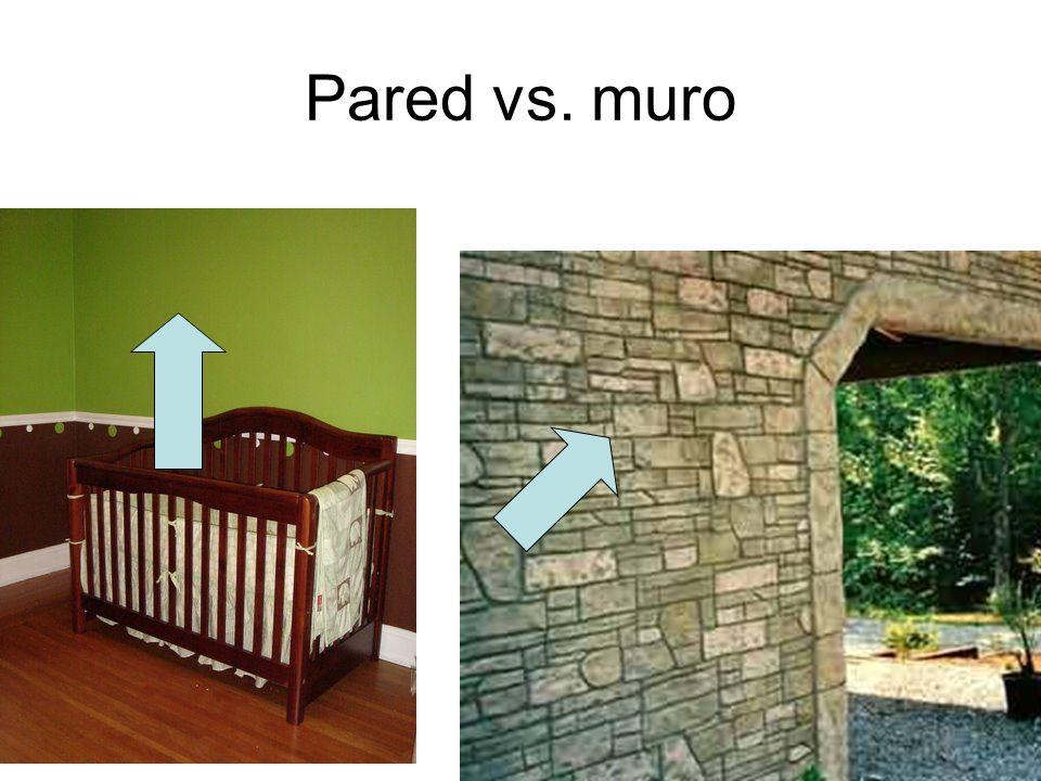 Pared vs. muro