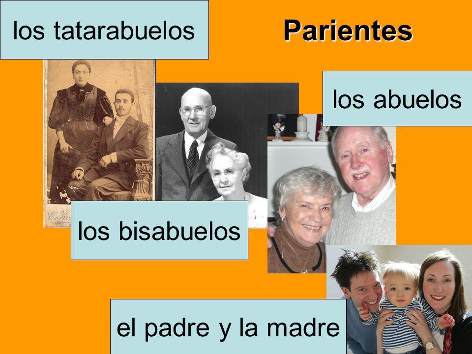 Parientes los tatarabuelos los abuelos los bisabuelos