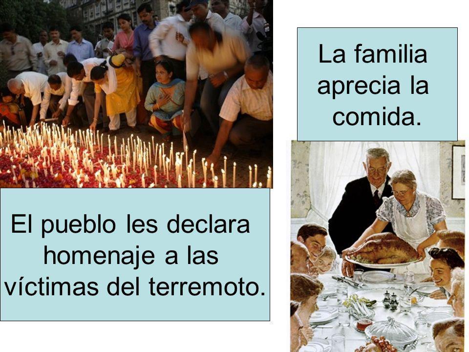 víctimas del terremoto.