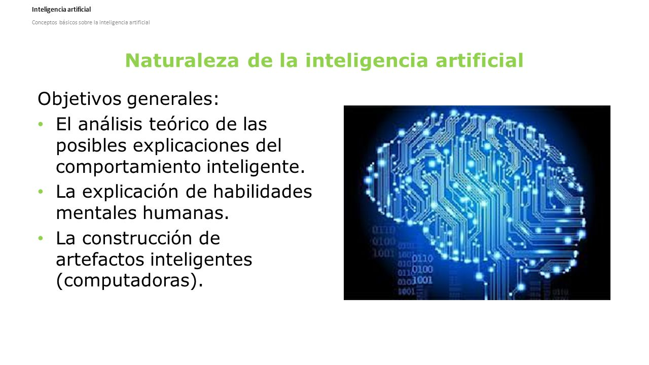 Naturaleza de la inteligencia artificial