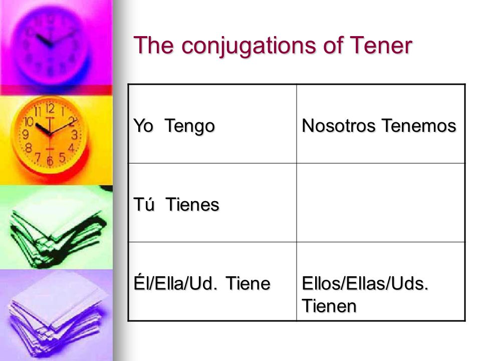 The conjugations of Tener
