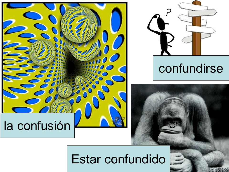 confundirse la confusión Estar confundido