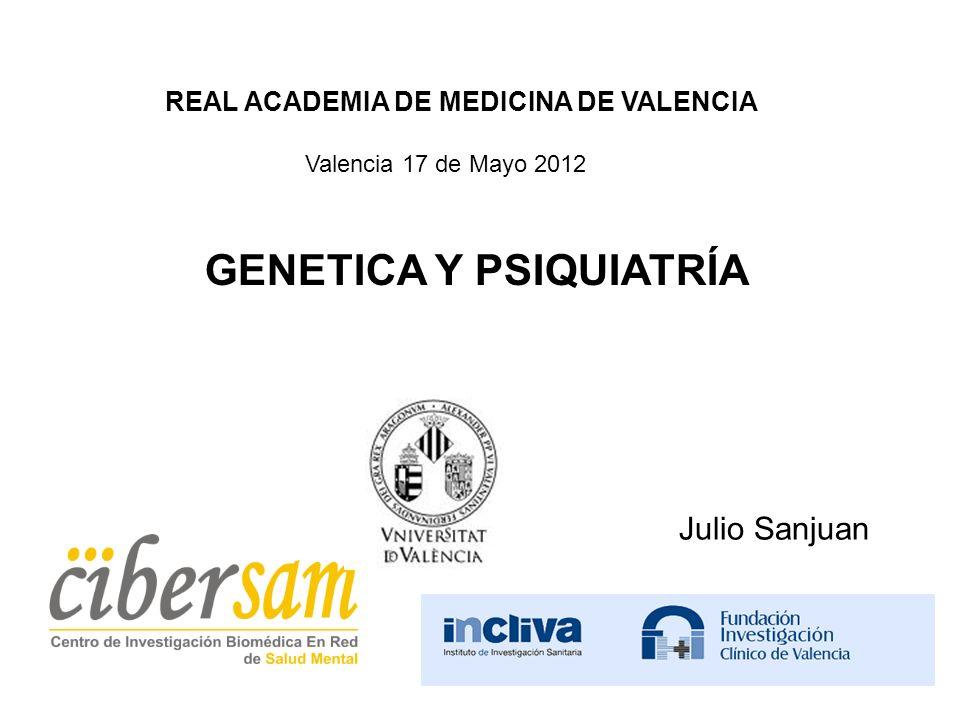 GENETICA Y PSIQUIATRÍA