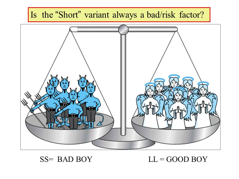 Is the Short variant always a bad/risk factor
