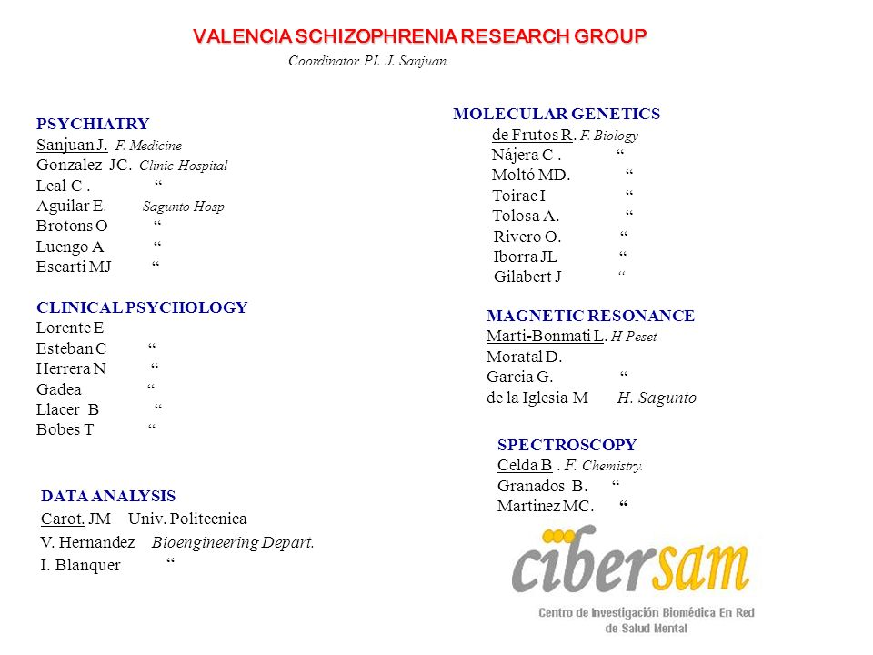 VALENCIA SCHIZOPHRENIA RESEARCH GROUP