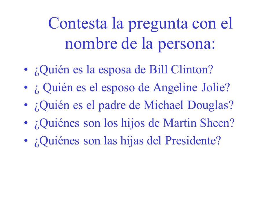 Contesta la pregunta con el nombre de la persona: