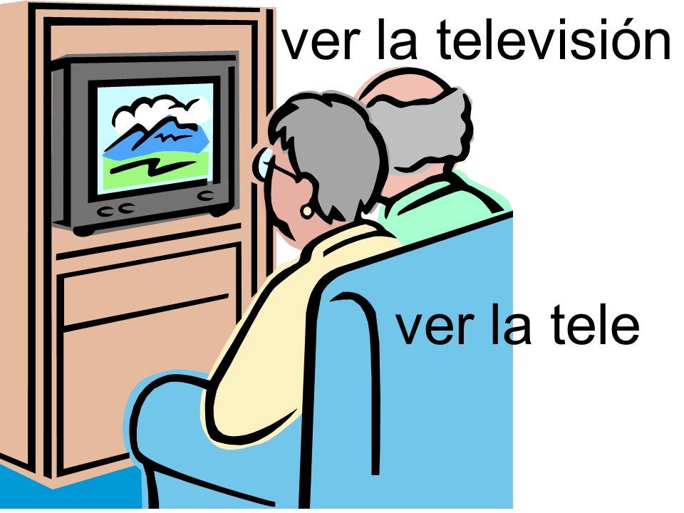 ver la televisión ver la tele