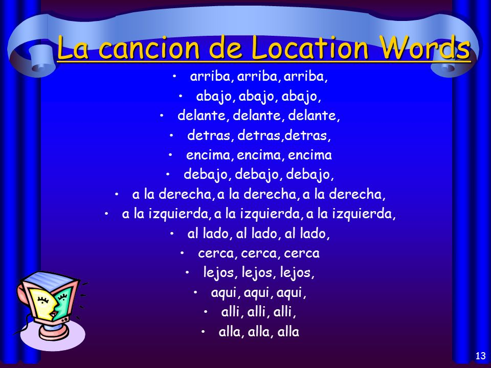 La cancion de Location Words