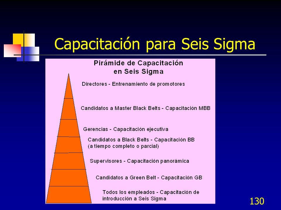 Capacitación para Seis Sigma
