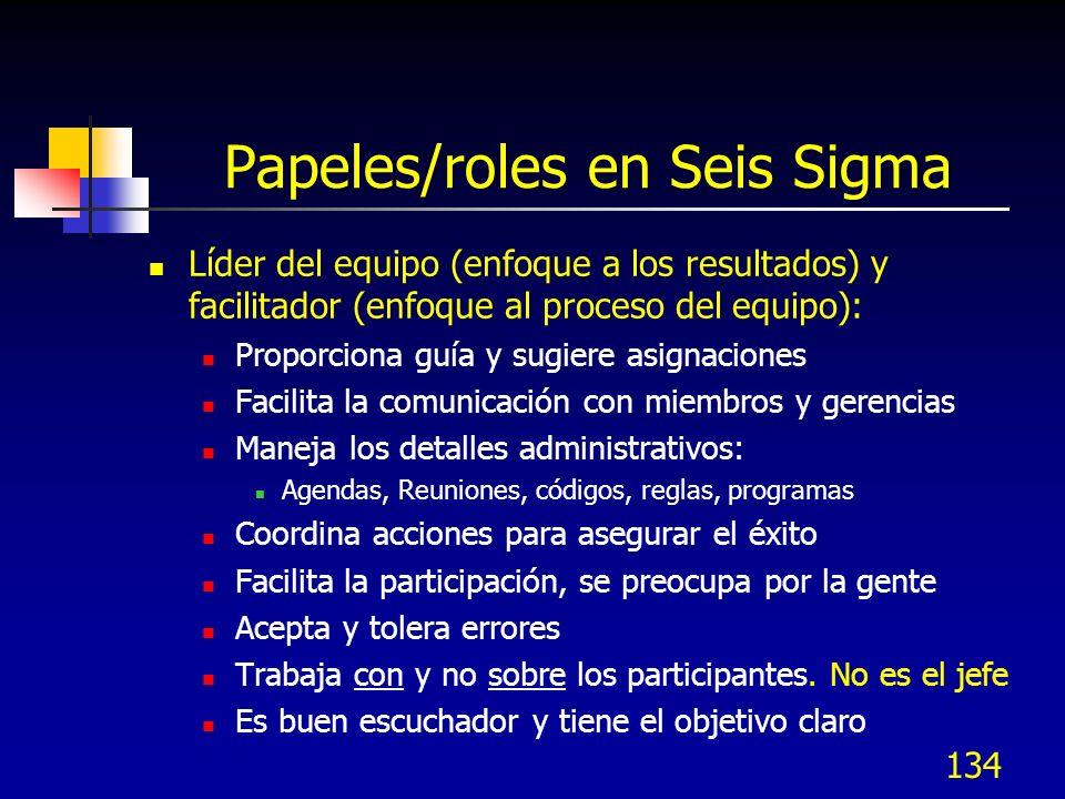 Papeles/roles en Seis Sigma