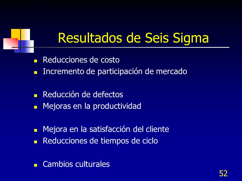 Resultados de Seis Sigma