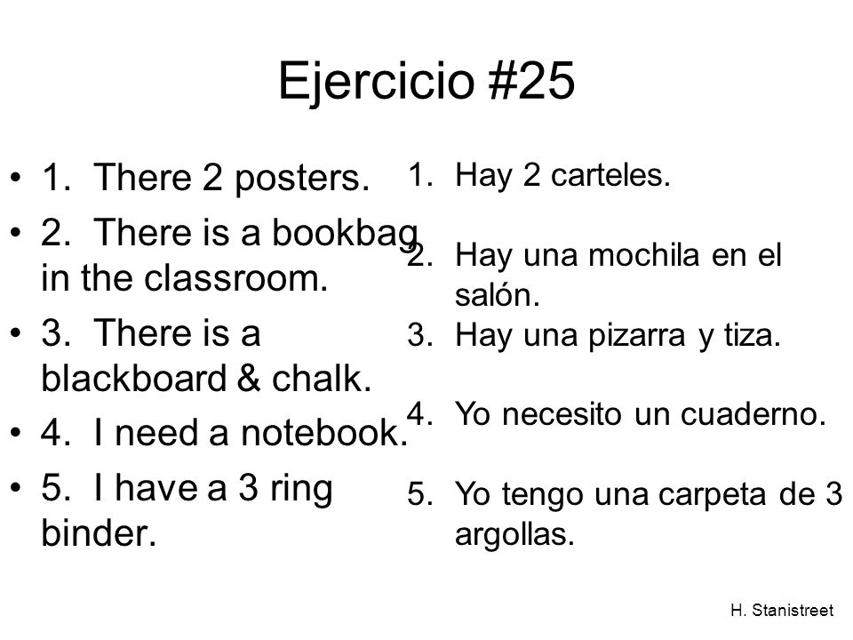 Ejercicio #25 1. There 2 posters.