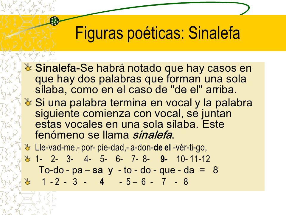 Figuras poéticas: Sinalefa