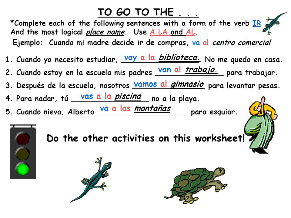 Do the other activities on this worksheet!