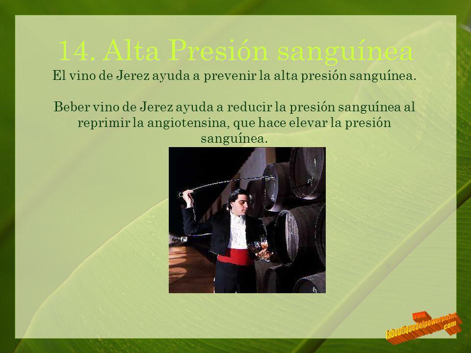 14. Alta Presión sanguínea