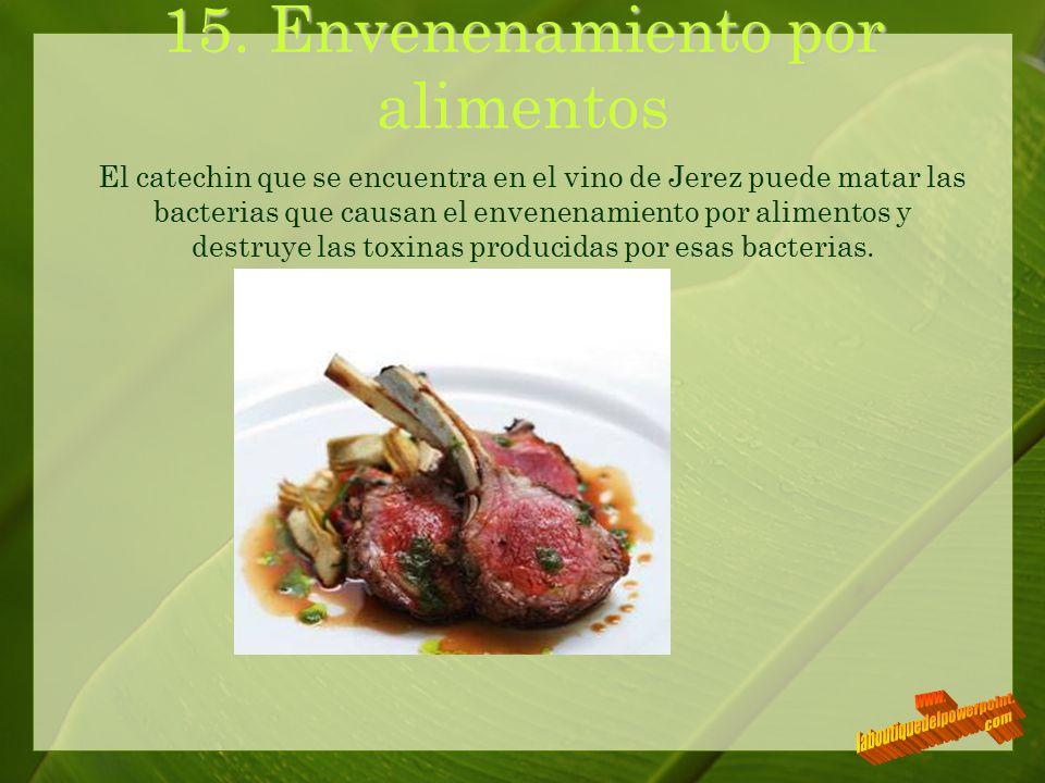 15. Envenenamiento por alimentos