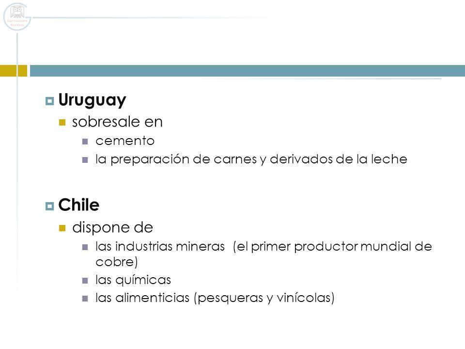 Uruguay Chile sobresale en dispone de cemento