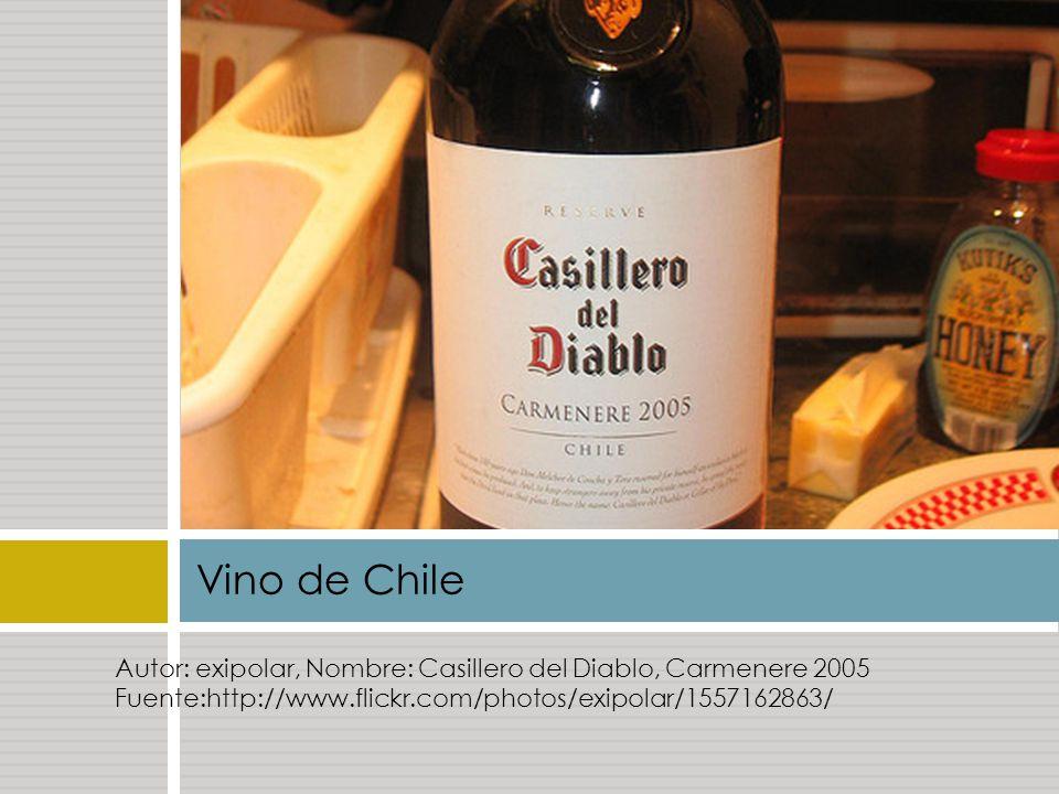 Vino de Chile Autor: exipolar, Nombre: Casillero del Diablo, Carmenere 2005 Fuente:http://www.flickr.com/photos/exipolar/1557162863/